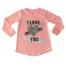 Ватирана блуза Сърце 122-146
