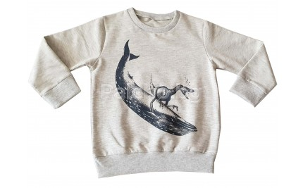 Ватирана блуза за момче Динозавър 92-116