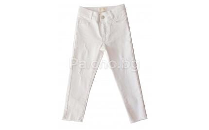 Бял панталон за момиче Контраст 98-152