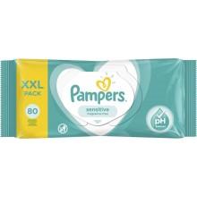 Pampers Sensitive - Мокри кърпи Памперс 80бр.