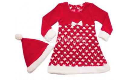 Коледна рокля Звезди Мариела 104-128