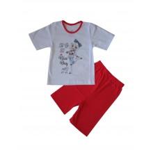 Пижама с къс ръкав за момиче 86-116