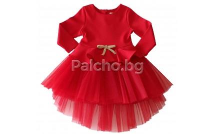 Официална червена рокля Контраст 68-122