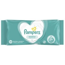 Pampers Sensitive - Мокри кърпи Памперс 52бр.