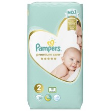 Pampers Premium Care 2 пелени 4-8кг. 50бр.
