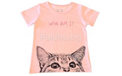 Лятна блуза за момиче Коте 122-152