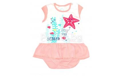 Бебешка боди рокля Море 56-68