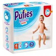 Pufies Sensitive Pants 4 еднократни гащички 9-15кг. 46бр.