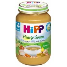 Хип пюре - Hipp Bio Зеленчукова супа с пуешко месо 190гр.
