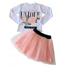 Детски комплект пола и блуза 116-146